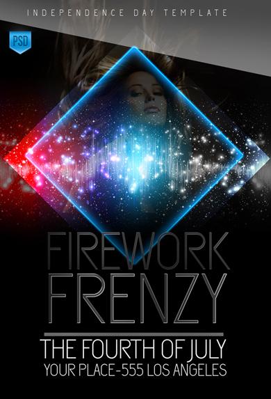 20 Firework Flyer Template PSD Images