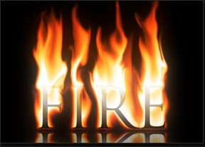Free Fire Flames Letters Fonts