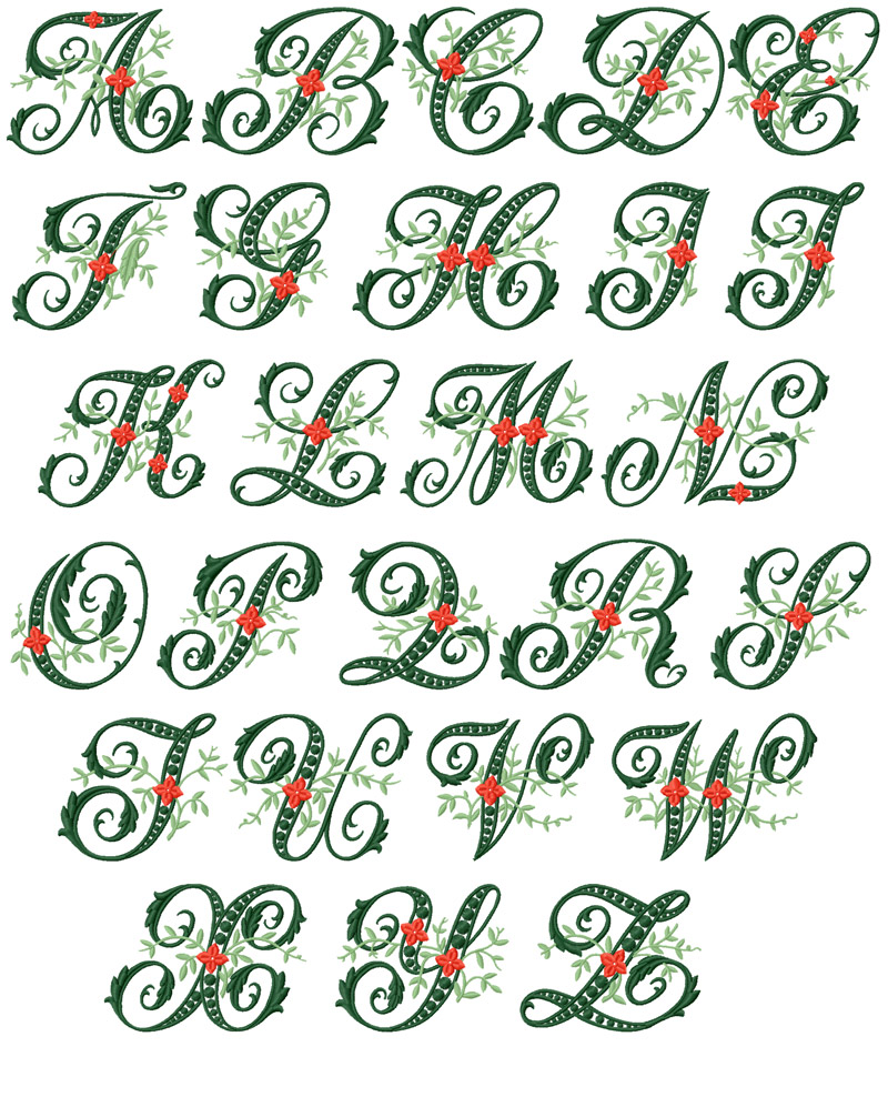 Free Machine Embroidery Fonts