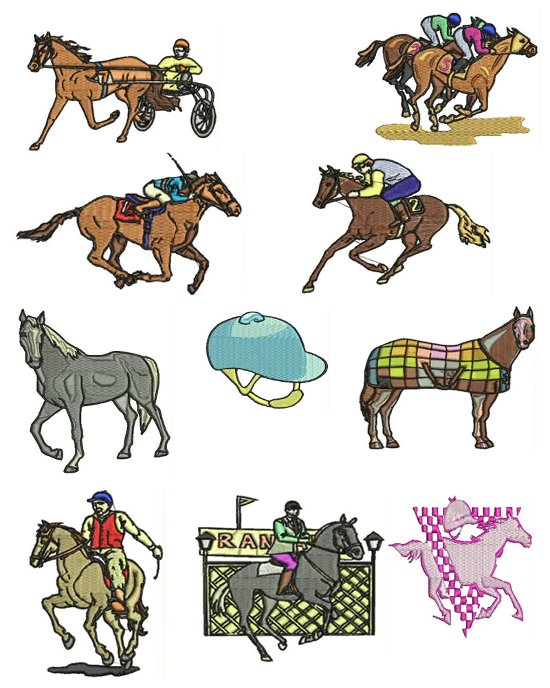 Free Machine Embroidery Horse Designs