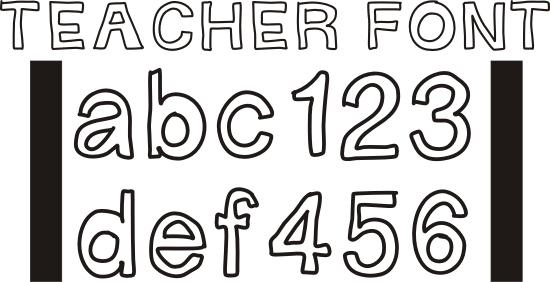 10 Free Colorful Fonts For Teachers Images