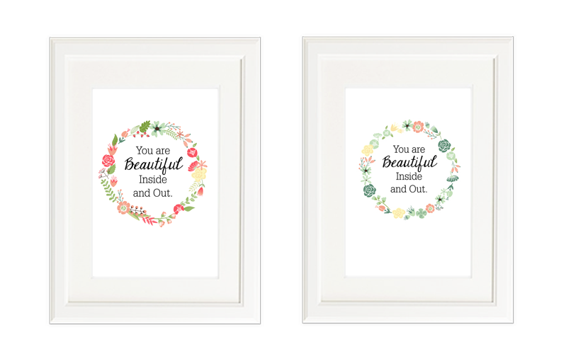 Free Printable You Are Beautiful