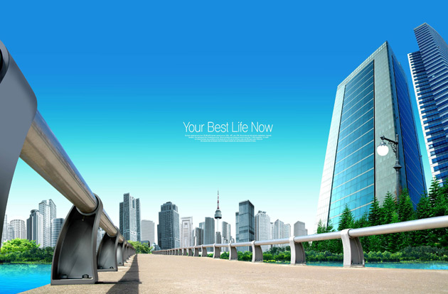 7 City Building PSD Images