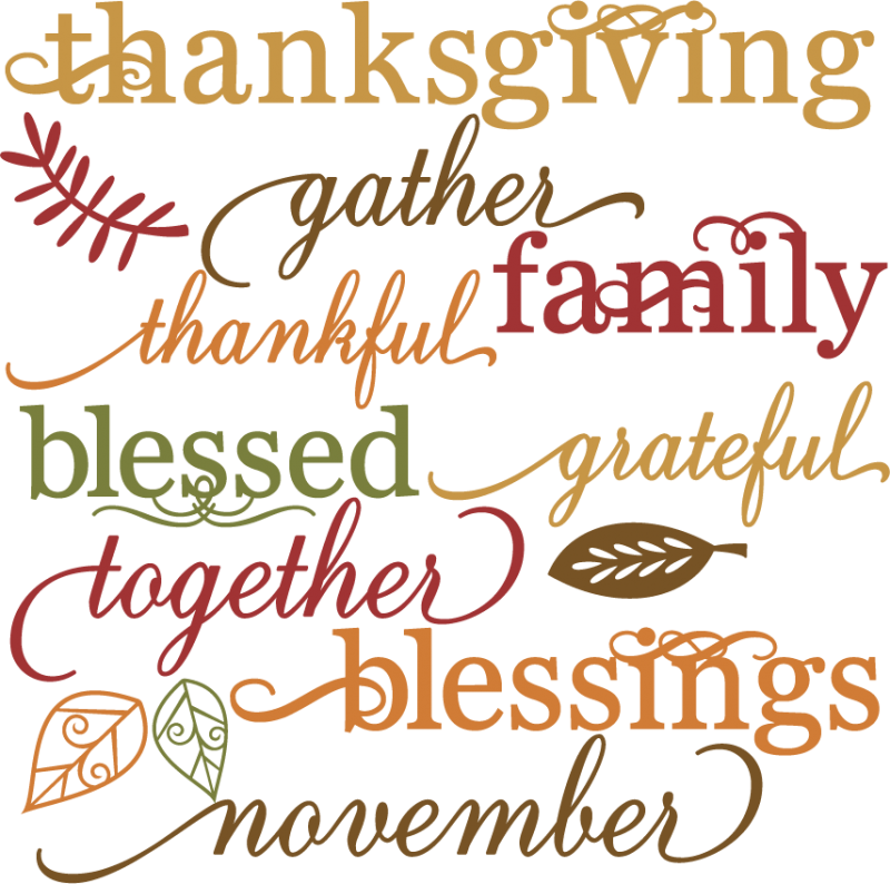 Free Thanksgiving Word Clip Art