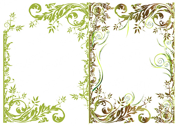 18 Free Vector Floral Border Images