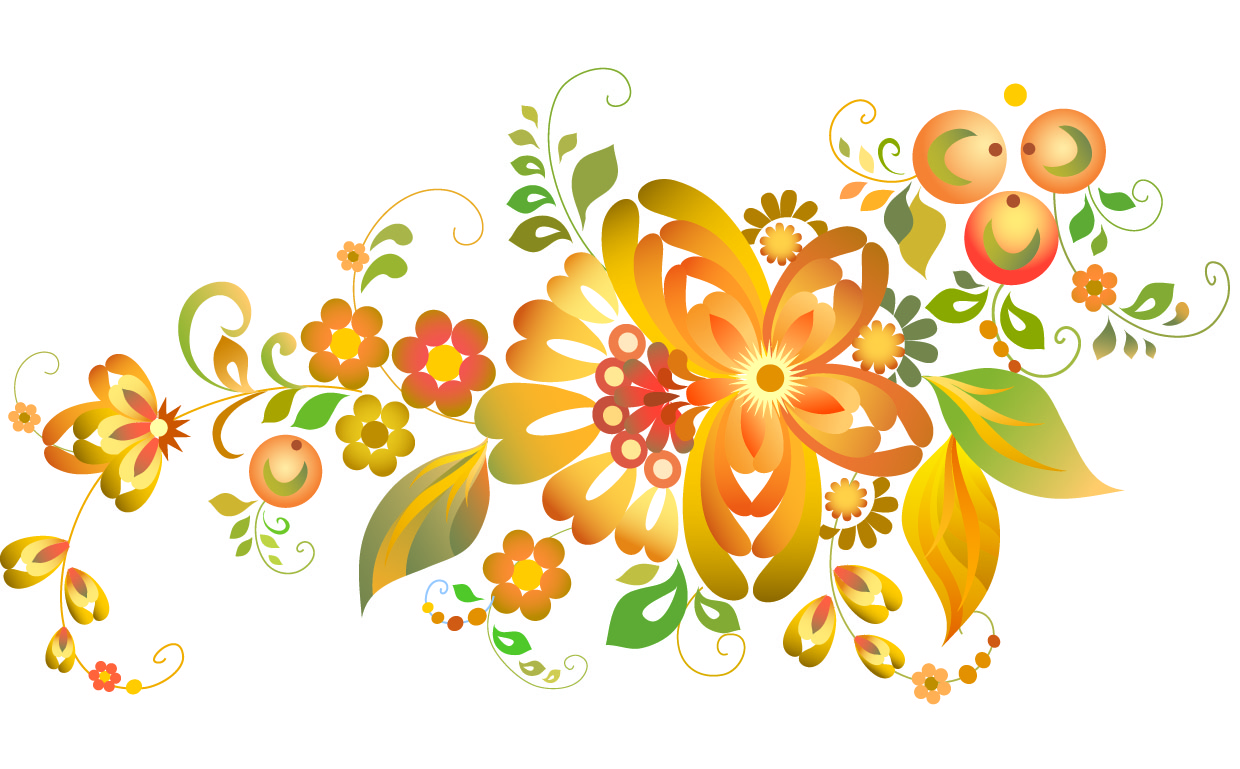 Free Vector Flowers Pattern