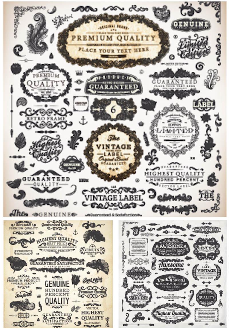 Free Vintage Vector Design Elements