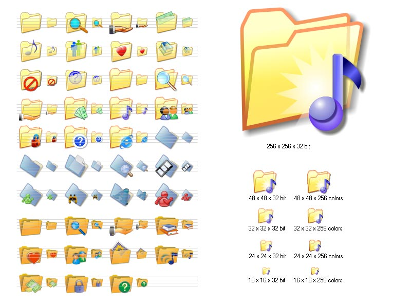 16 Windows Folder Icons Sets Images