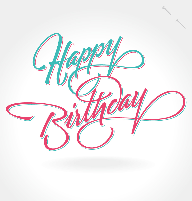 13 Happy Birthday Lettering Designs Images