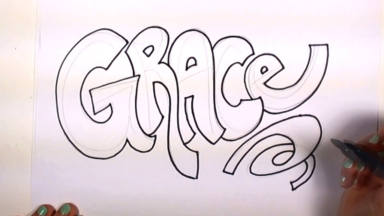 how to draw cool letters easy