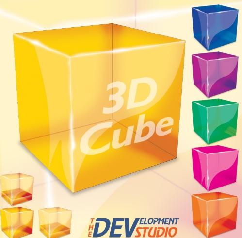 11 3D Cube PSD Images
