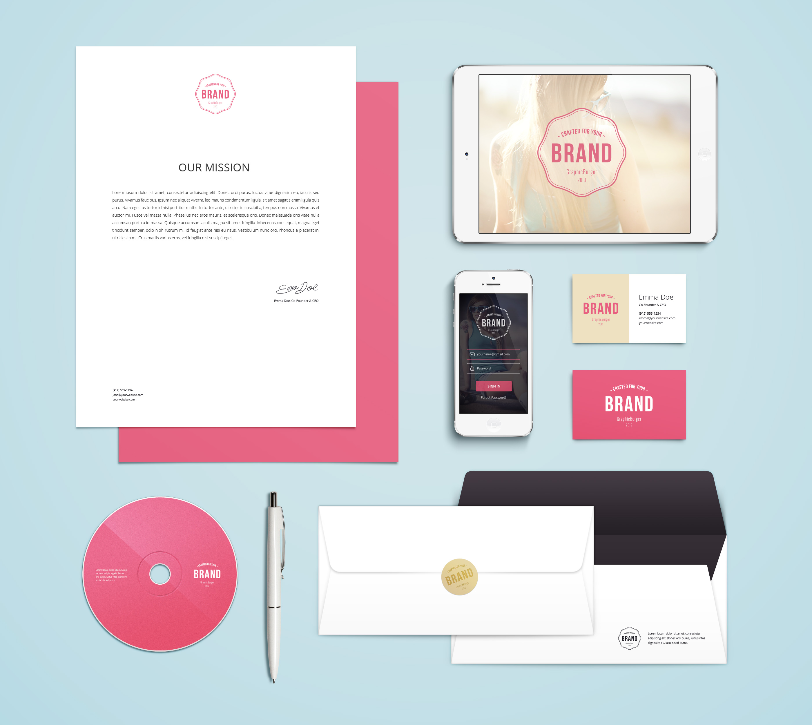 8 Graphic Design Mock Up Bundle Images