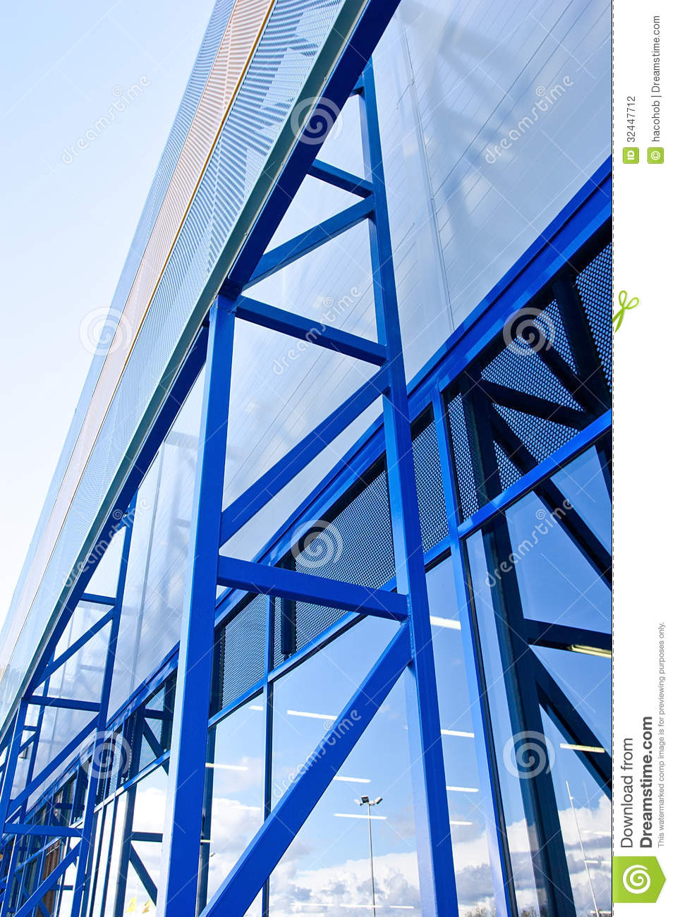 Industrial Metal Building Facade