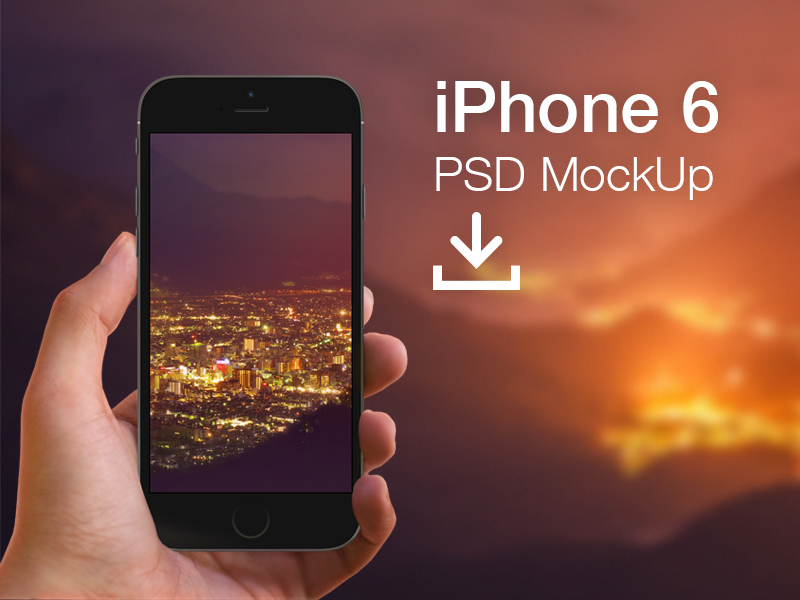 12 IPhone 6 Hand Mockup PSD Images