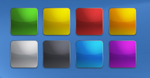 iPhone Buttons Template