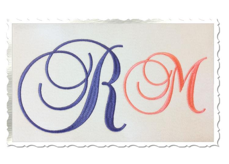 Machine Embroidery Script Fonts Alphabet