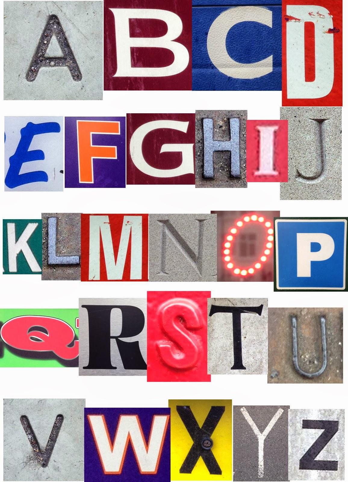 Magazine Cut Out Letters Font