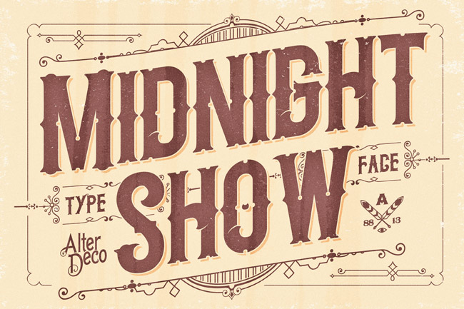 Midnight Show Vintage Fonts