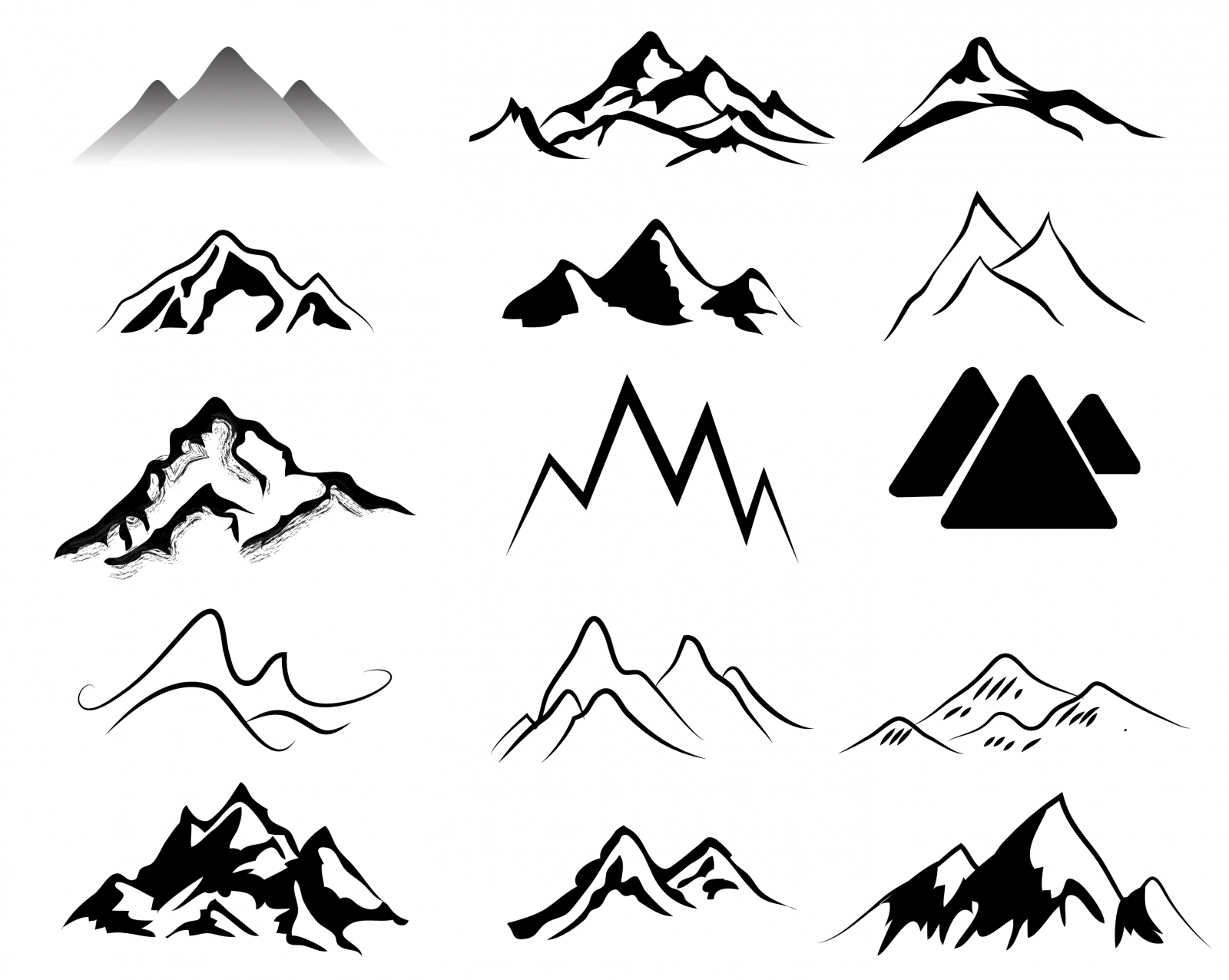17 Free Mountain Vector Images