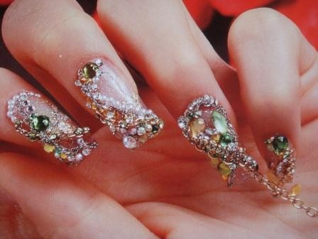 8 Nail Art Designs With Rhinestones Images