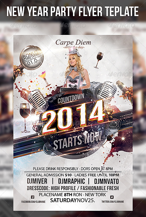 New Year's Flyer Templates Free