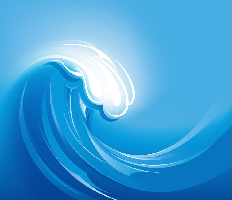 Ocean Wave Vector Illustration
