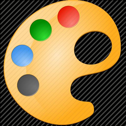 7 Paintbrush Palette Icon Images