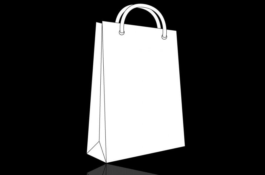 Paper Bag Template Vector