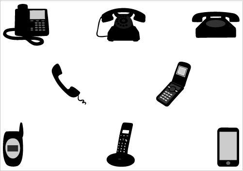 11 Phone Silhouette Vector Images
