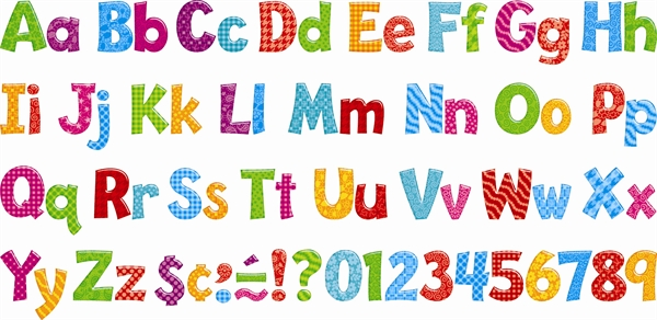 picture relating to Printable Bulletin Board Letters referred to as 10 No cost Colourful Fonts For Instructors Pictures - Absolutely free Determine