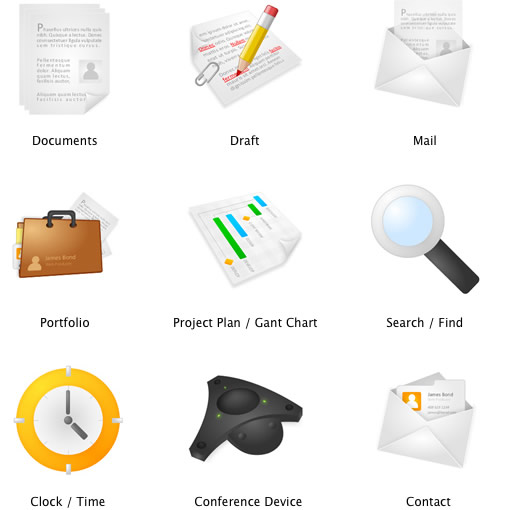 6 Project Management Icon Set Images