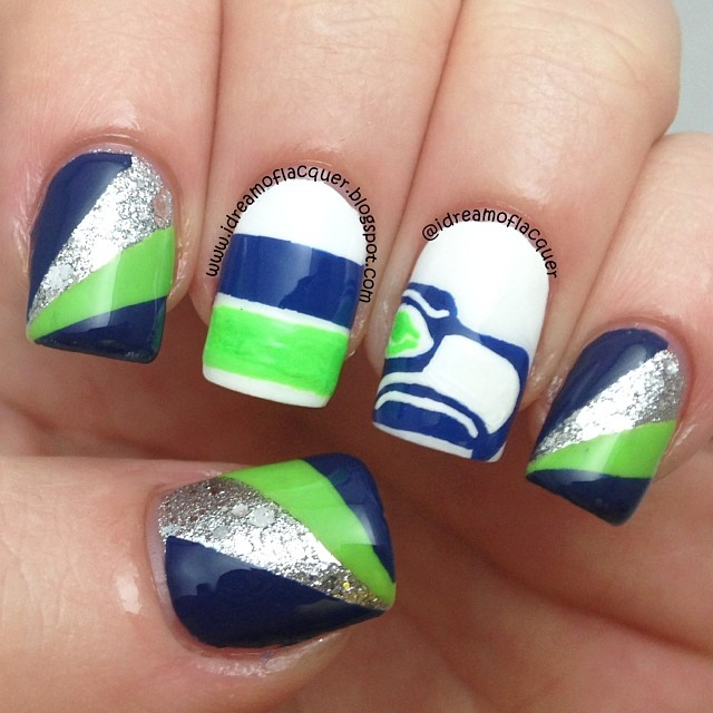 16 Seahawks Nail Designs Images Seahawks Nail Design Seattle