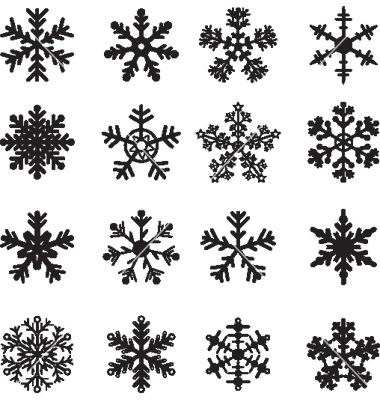 Simple Snowflake Vector