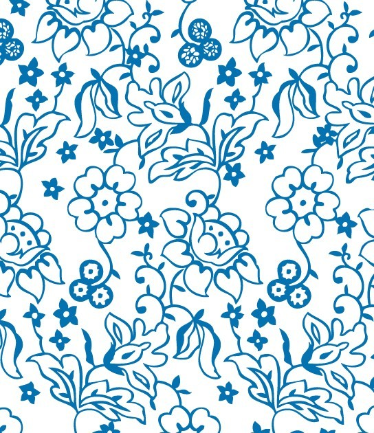Simple Vector Flower Patterns