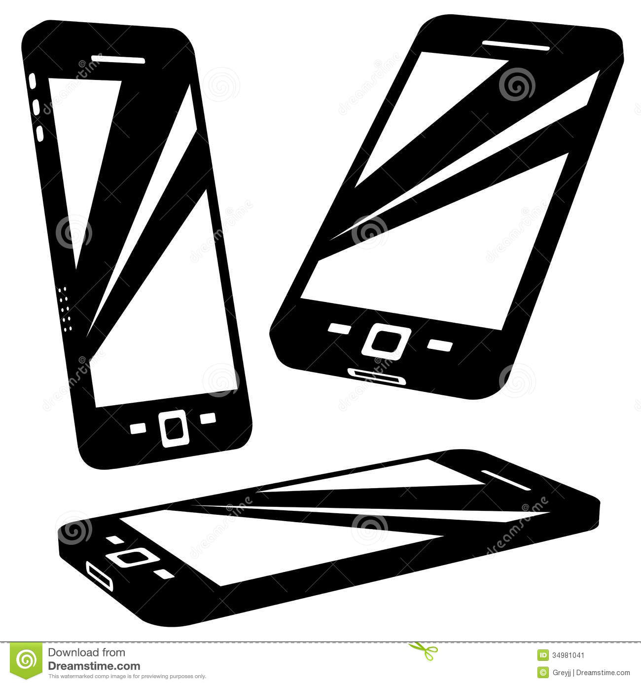 Silhouette Vector Images - Phone Silhouette Clip Art, Cell Phone Icon ... Iphone Silhouette Icon