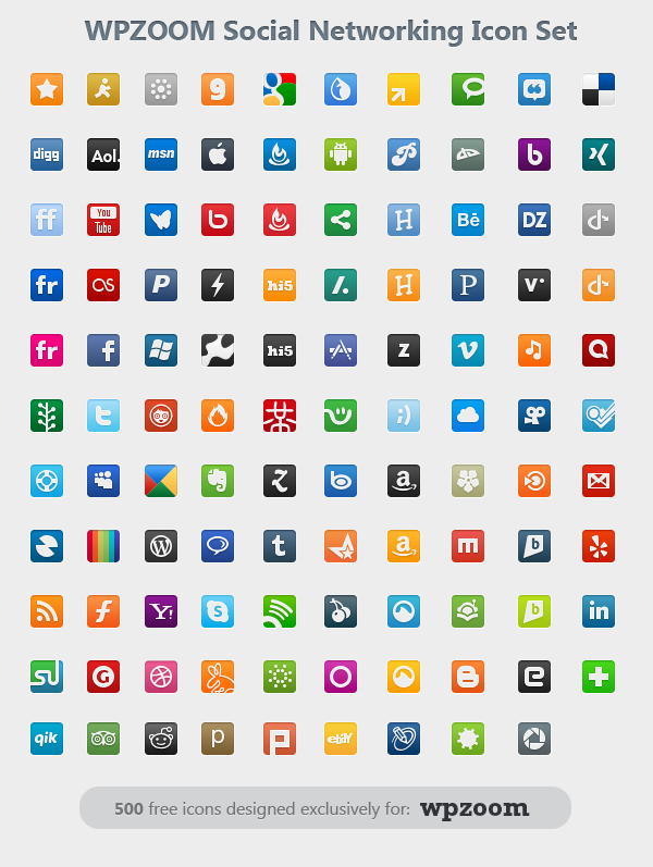 20 Social Networking Icon Sets Images