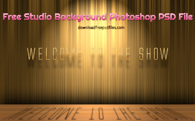 Studio Background PSD Free Download