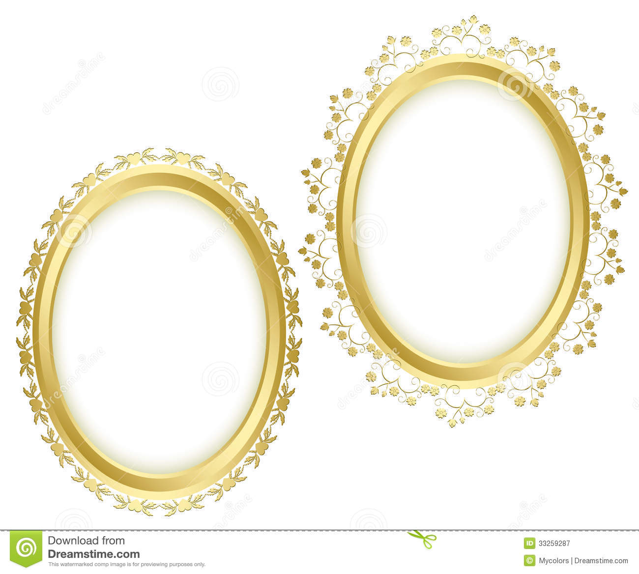 14 Gold Transparent Green Frame Vector Images