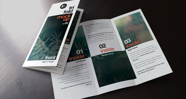 Free psd mockup file page 1 for Tri fold brochure template photoshop free