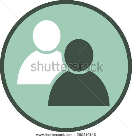 Two People Icon Vector