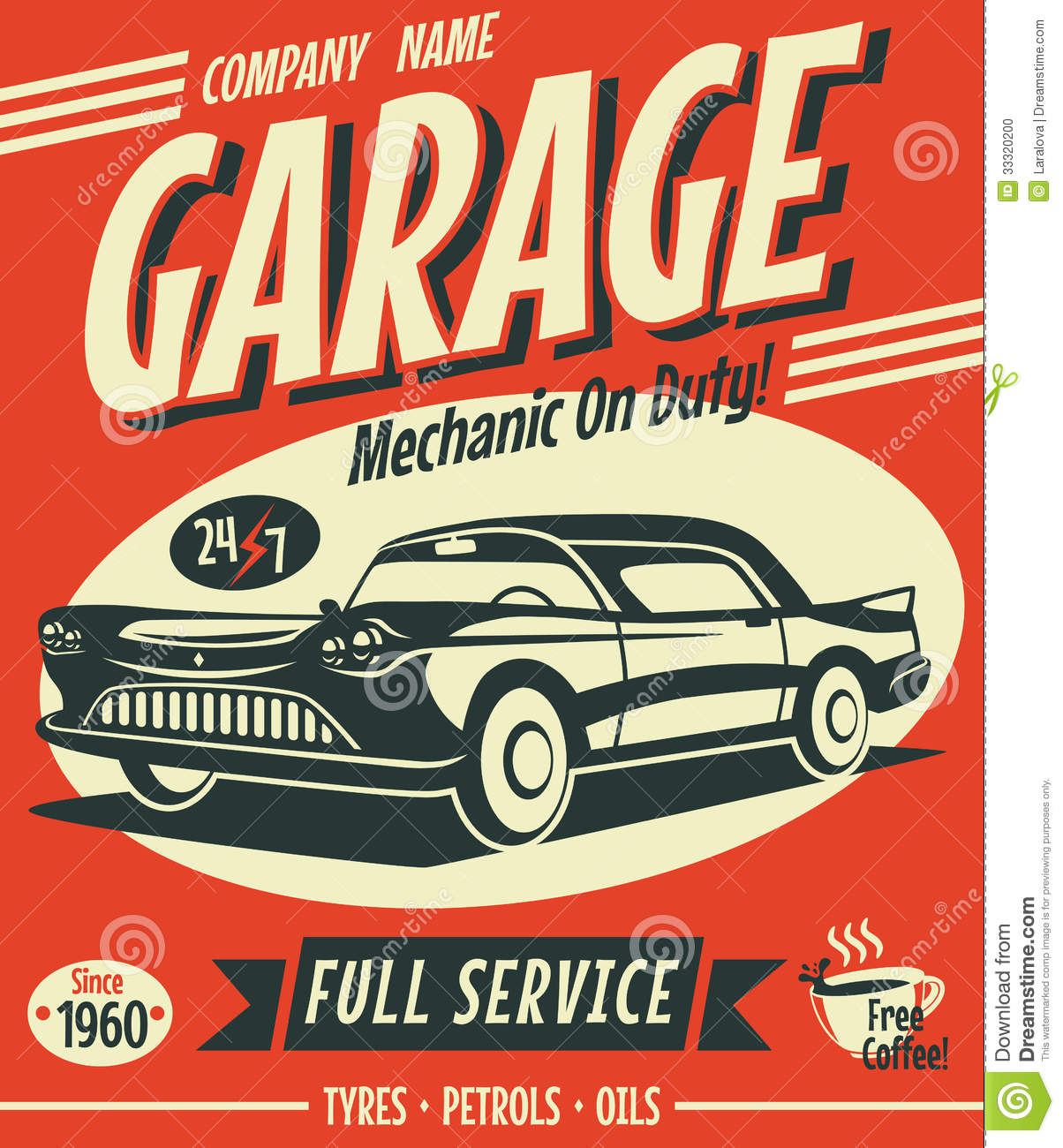 Vector Vintage Car Signs