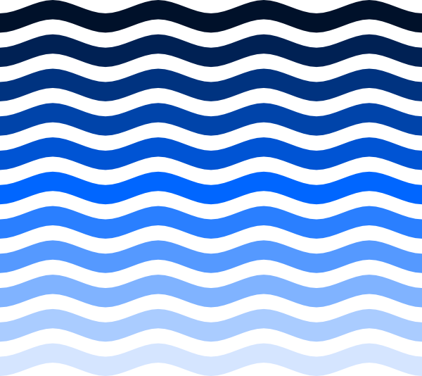 Vector Water Waves Clip Art