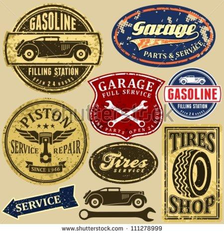 Vintage Auto Repair Signs
