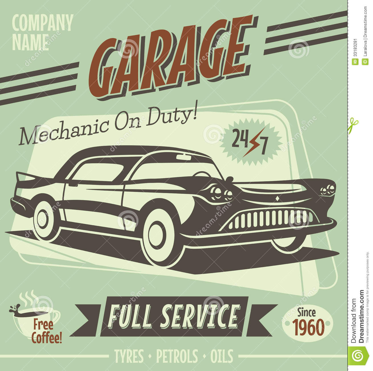 7 Vector Vintage Car Sign Images
