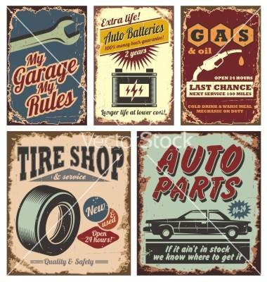 Vintage Car Sign
