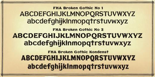 Vintage Sign Fonts