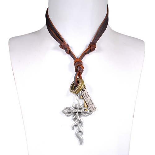 Western Cross Necklaces for Men