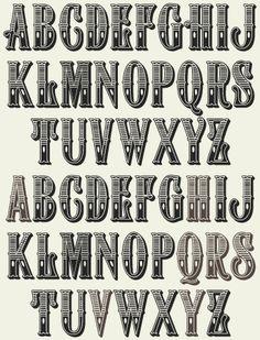 Western Font Alphabet