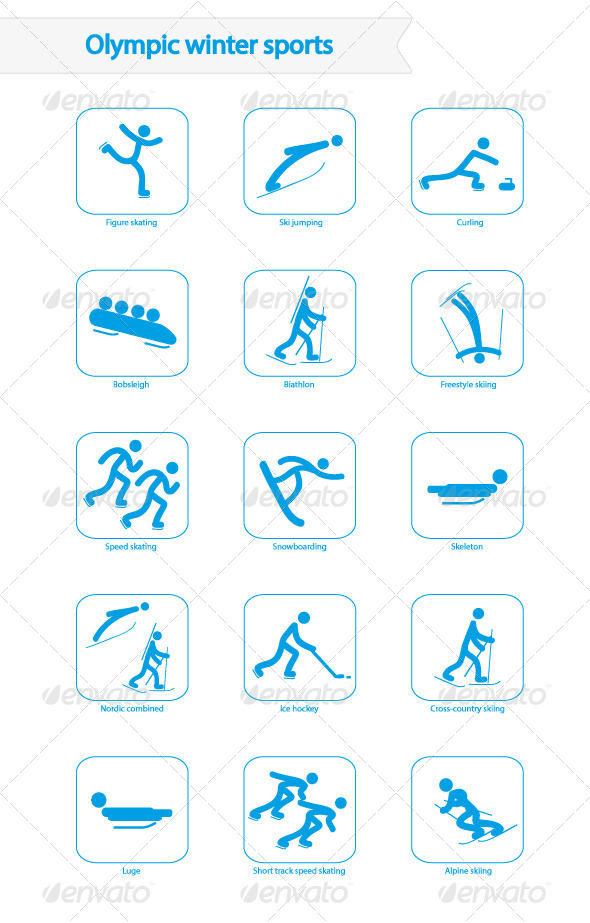 14 2014 Winter Olympics Icons Images