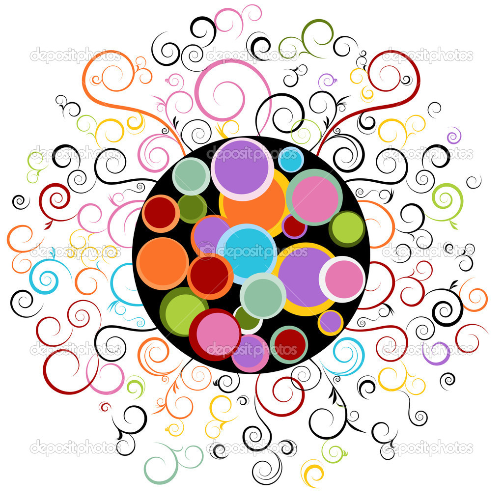 Abstract Swirl Designs Clip Art